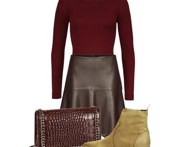 Outfit of the Day: Burguny for Fall