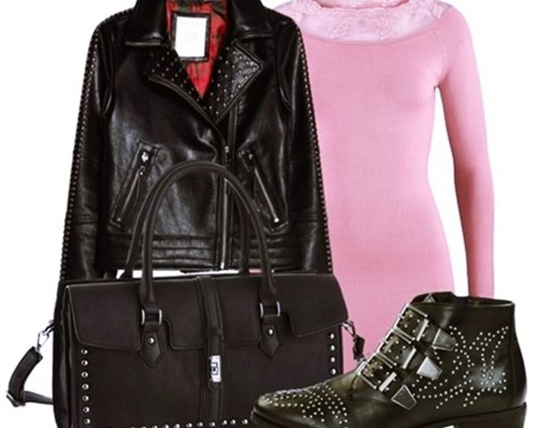 Outfit of the Day: Pink and Studs