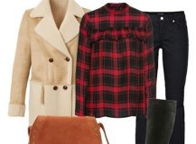 Outfit of The Day: Black and Red Plaid Shirt