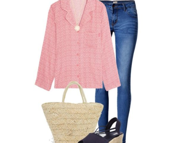 3 Spring Outfits with a Pajama Style Shirt