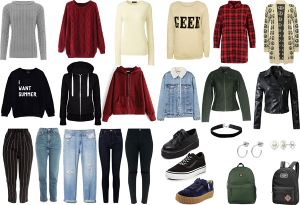 Transitional Capsule Wardrobe: Highschool Version
