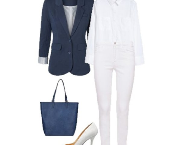 4 Workwear Outfits with White Jeans