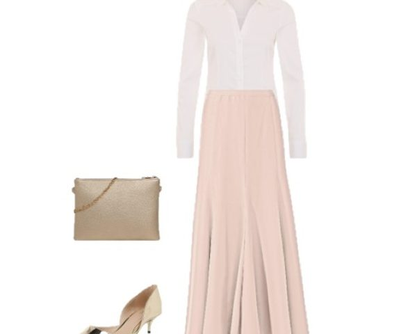 Outfit Of The Day: Pale Pink for a Spring Event