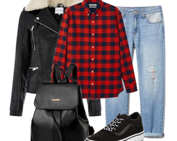 Outfit Of The Day: Red plaid Shirt and Boyfriend Jeans