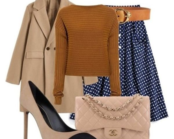 Outfit of the Day: Camel and Navy
