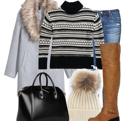 Outfit of the Day: Black and White Sweater