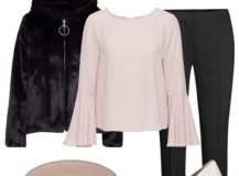 Outfit of the Day: Pink and Black