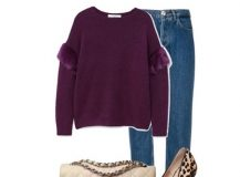 Outfit of the Day: Plum Sweater