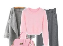 Outfit of the Day: Grey and Pink