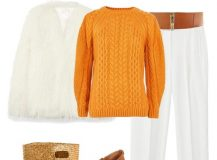 Outfit of The Day: Orange Sweater