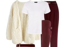 Outfit of The Day: Burgundy and White