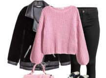 Outfit of The Day: Black and Pink