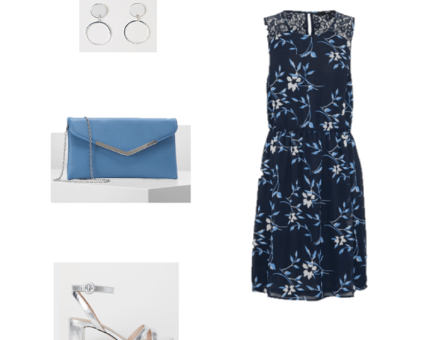 Outfit of the Day: A Navy Floral Dress
