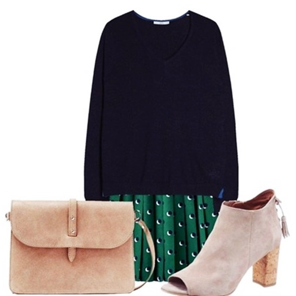 Outfit of the Day: Green and Blue