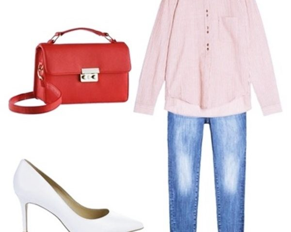 Outfit Of The Day: Red Striped Blouse