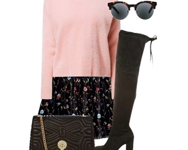 Outfit of The Day: a Sweater with a Floral Skirt