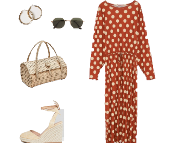 Outfit of The Day: a Polka-dot Maxi Dress