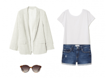 Outfit of the Day: a Blazer with Denim Shorts