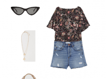 Outfit of the Day: a Floral Blouse With Shorts
