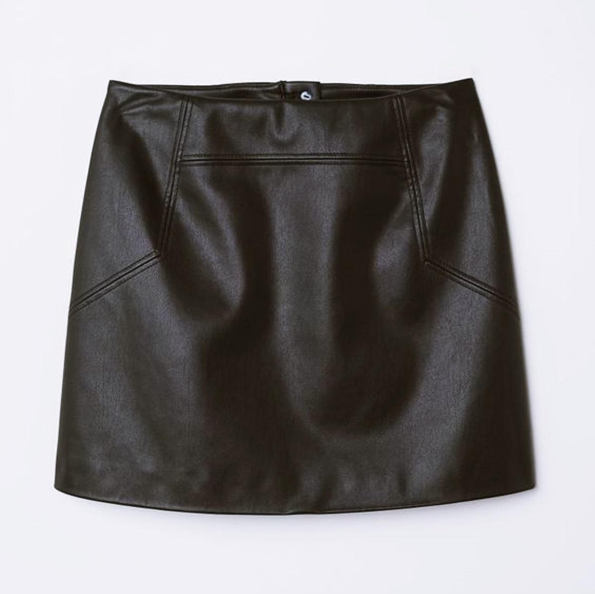 One leather skirt, four ways