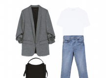 Look of the Day: A grey Blazer