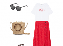 Outfit of the Day: a Red Skirt