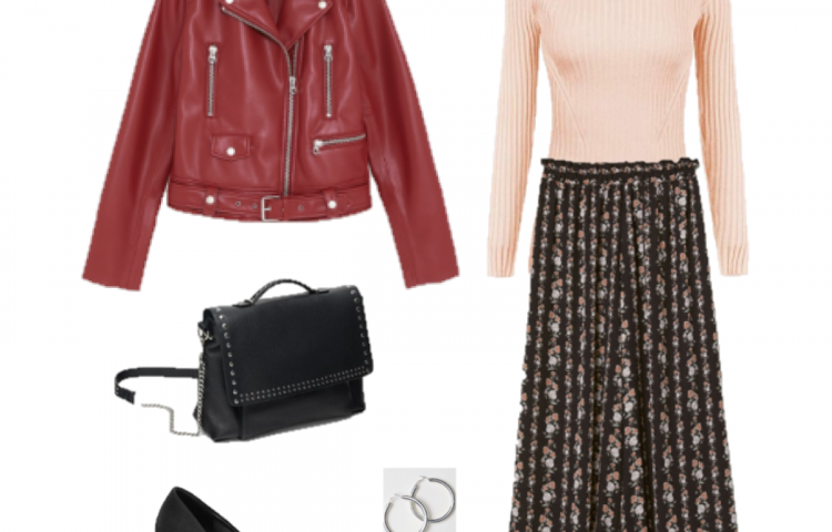 Outfit of the Day: Red, Pink and Black