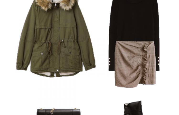 Look del día: falda de cuadros