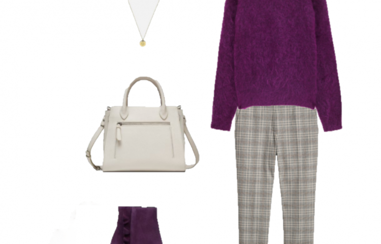 Outfit of the day: a purple sweater for the office