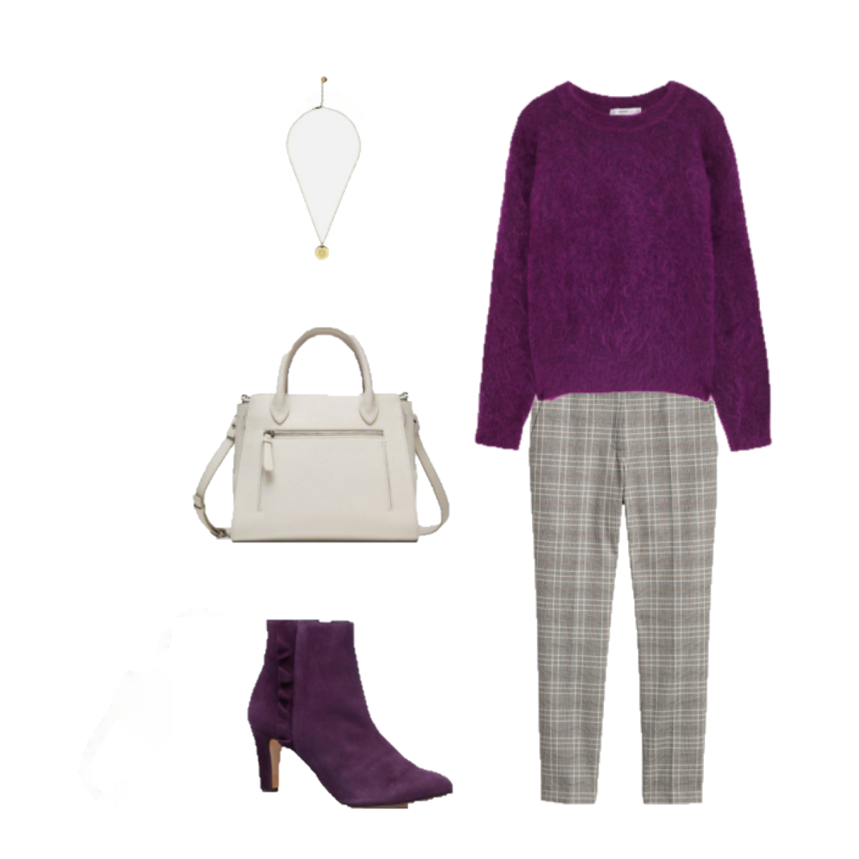 6282f3f9fb Outfit of the day  a purple sweater for the office