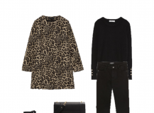 Outfit of the day: Leopard and Black