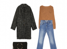 Outfit of the Day: a Camel Sweater with Jeans