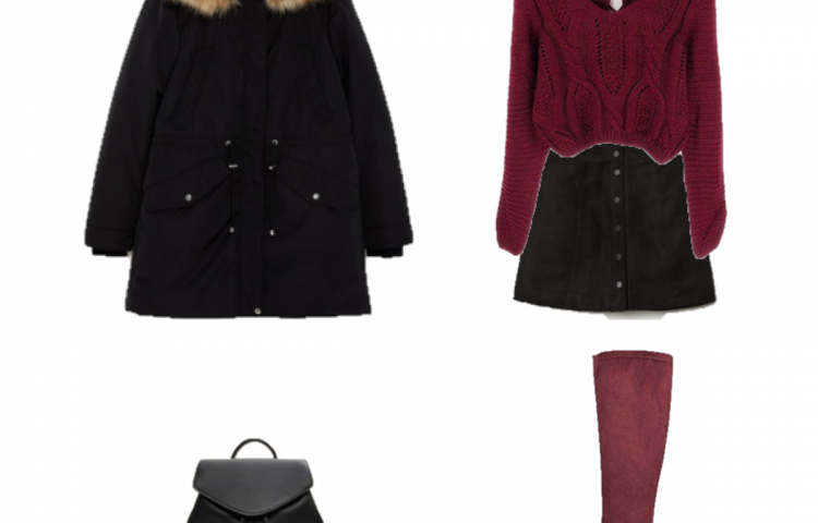 Outfit of the Day: Burgundy Sweater and Boots