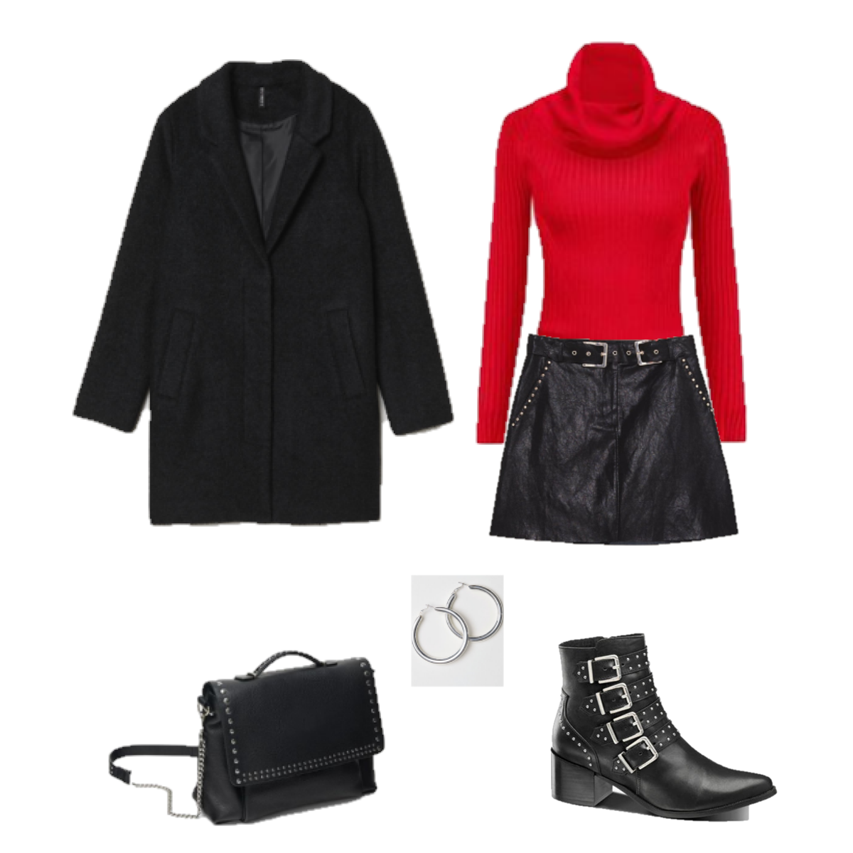 Outfit of the Day: Red and Leather