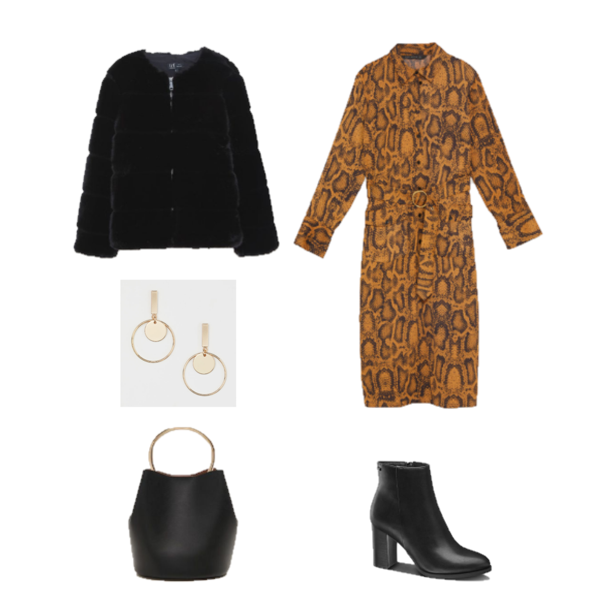 Outfit of the Day: A Snake Print Dress