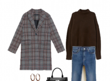Outfit of the Day: a plaid Coat for this Winter