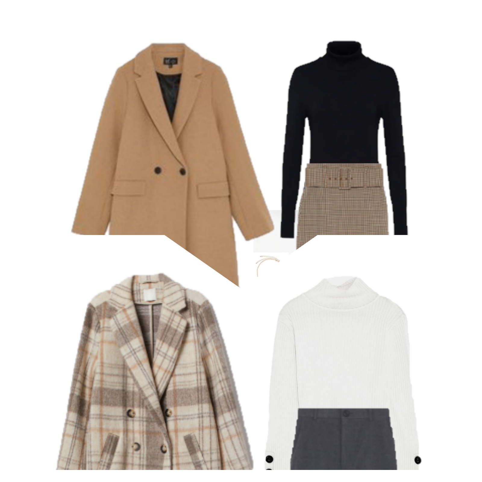 Winter Work Outfits with Turtleneck Sweaters