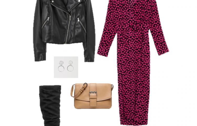 Look del día: un vestido negro y rosa