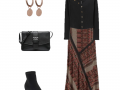 Outfit of the Day: a printed maxi skirt