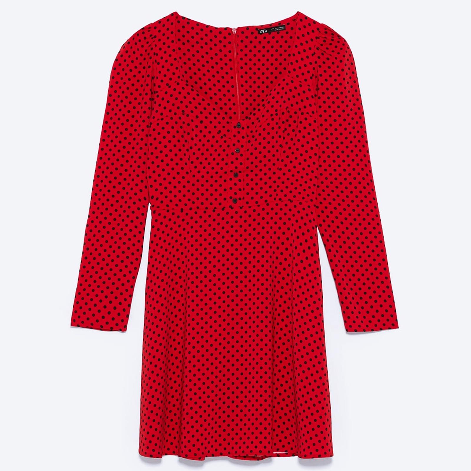 One polka dot dress, 4 ways