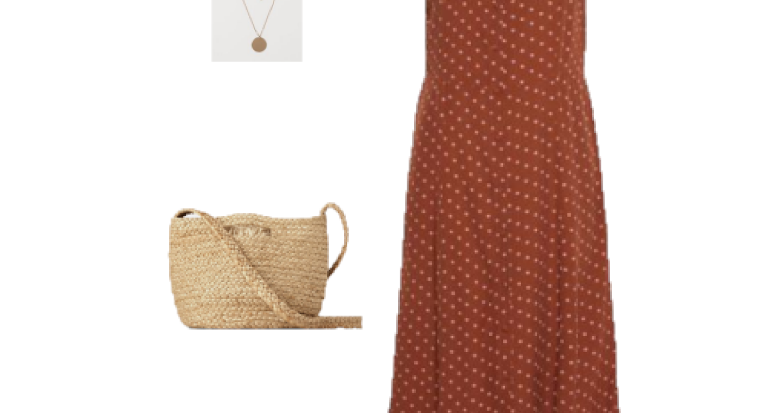 Outfit of the Day: A brown polka-dot dress