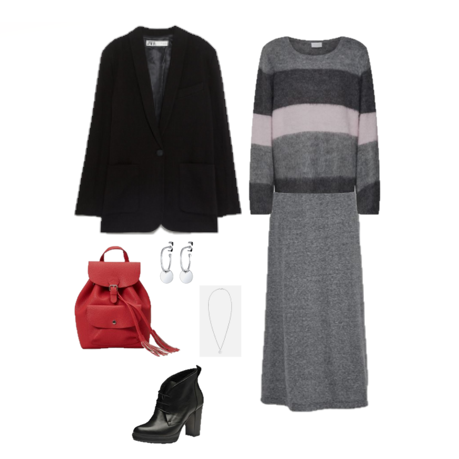 Outfit of the Day: A grey maxi skirt