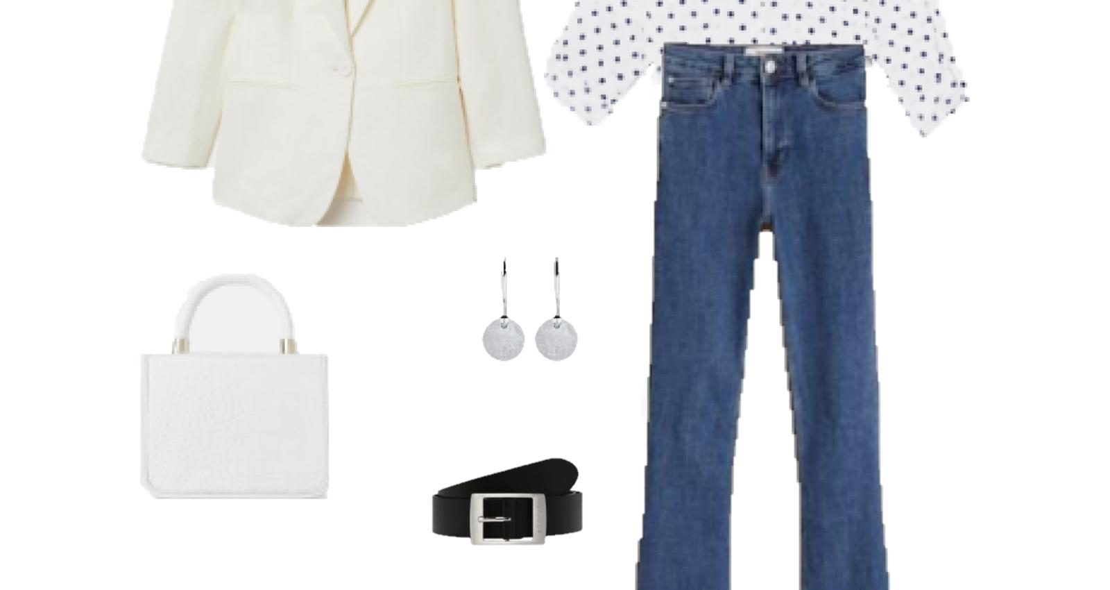 Look del día: una camisa blanca de lunares