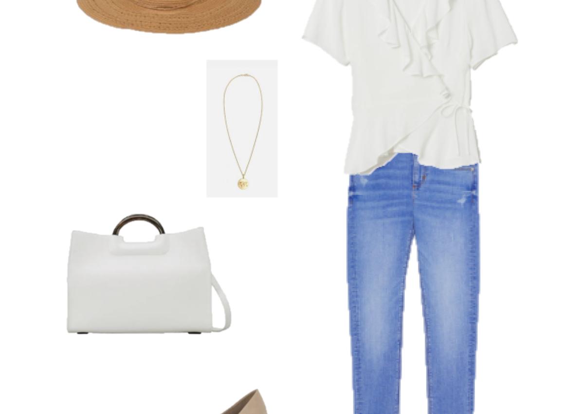 Look del Día: una blusa blanca cruzada