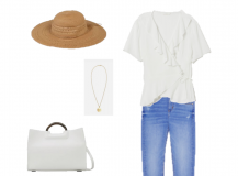Outfit of the Day: A white wrap blouse