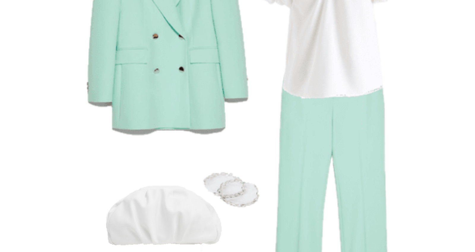 Outfit of the Day: A water green Pant Suit