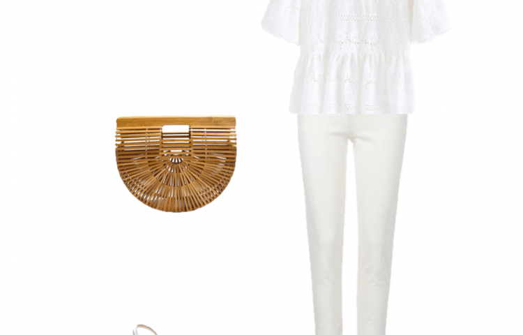 Outfit of the Day: White and Bamboo