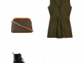 Outfit of the Day: a khaki green romper