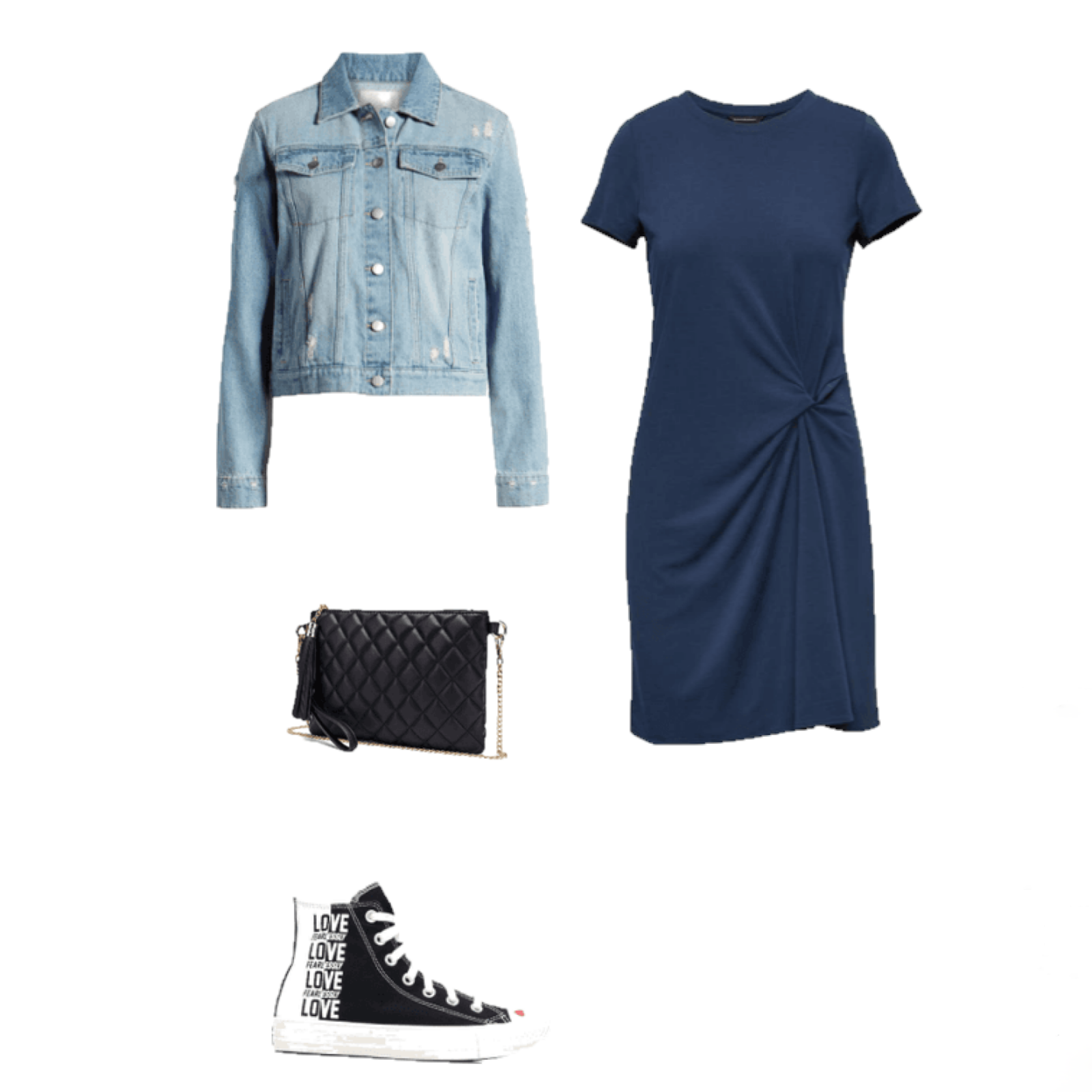Outfit of the Day: blue and black