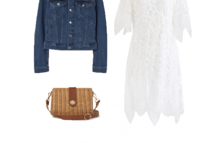 Outfit of the Day: a lace dress